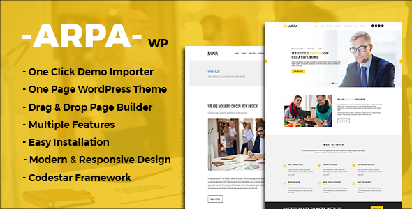 Arpa- One Page Business WordPress Theme