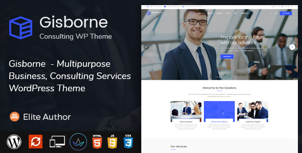 Gisborne- Business, Financial and Consulting WordPress Theme
