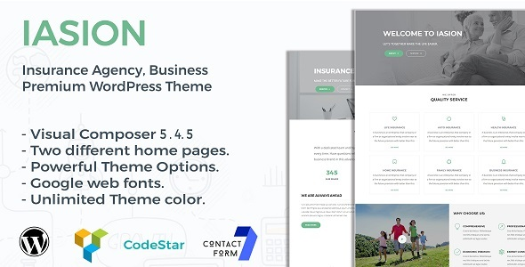 Iasion- Insurance Agency WordPress Theme