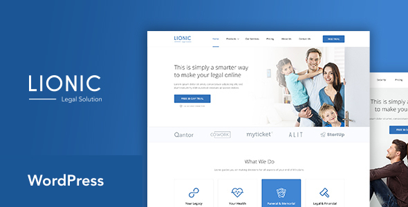 Lionic- Online Finance & Legal WordPress Theme