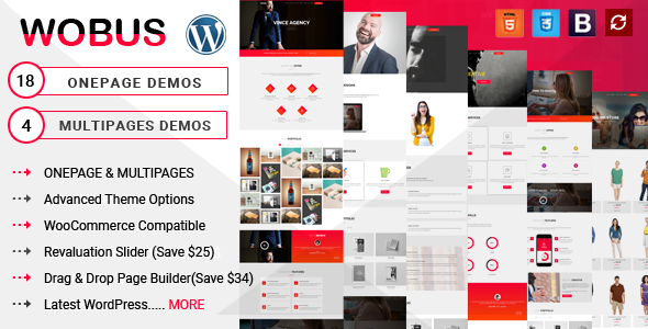 Wobus- One Page and Multi Pages Business WordPress Theme